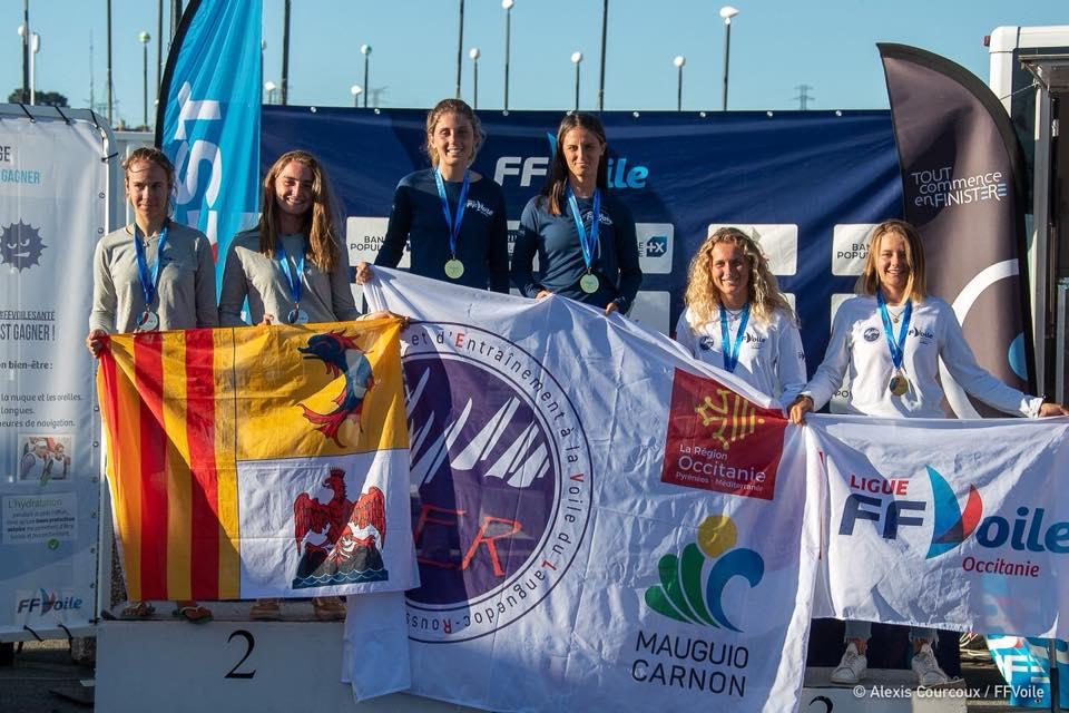 Championne de FRANCE espoir 420 pour Solenza Mariani et Antéa Mariani